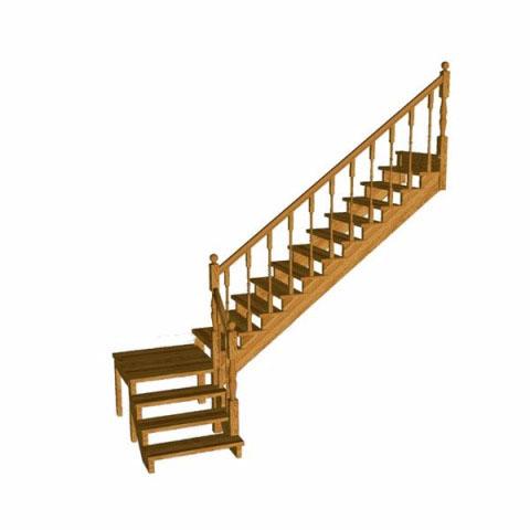 Лестница с поворотов 90 градусов